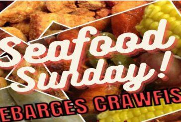 Seafood Sunday from Debarge's Crawfish