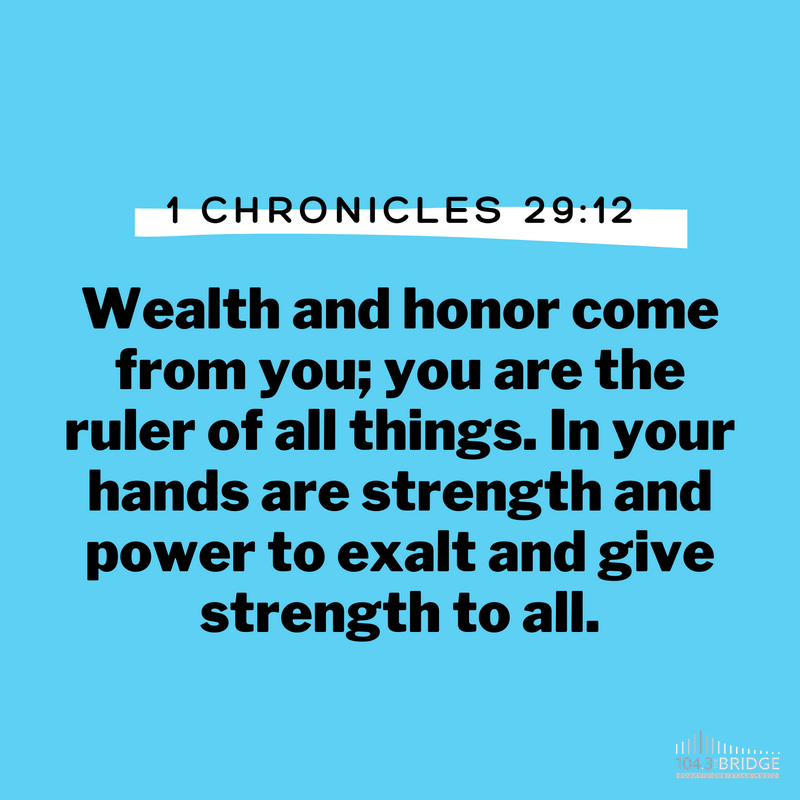1 Chronicles 29:12
