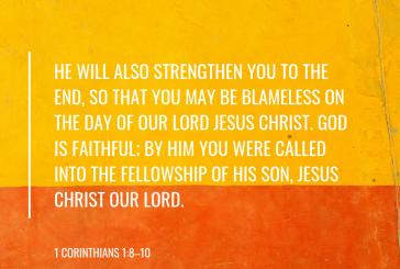 1 Corinthians 1:8-10