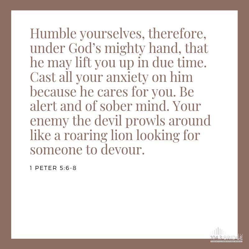 1 Peter 5:6-8