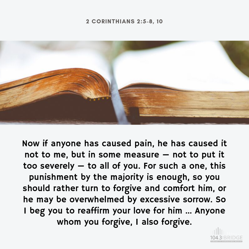 2 Corinthians 2:5-8, 10