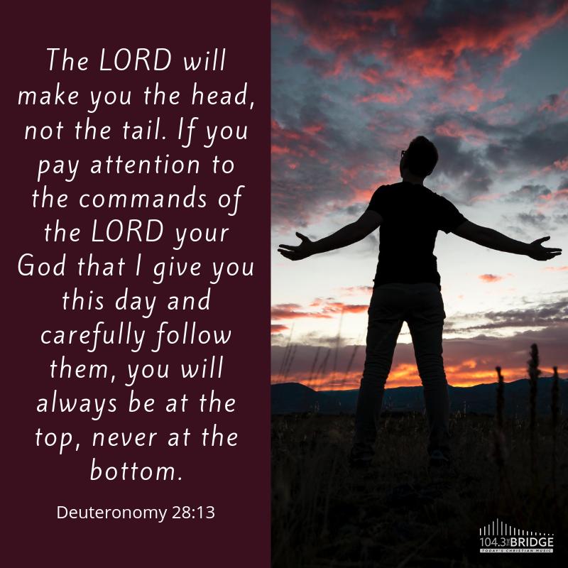 Deuteronomy 28:13