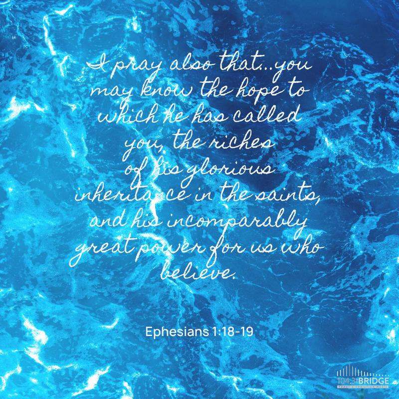 Ephesians 1:18-19