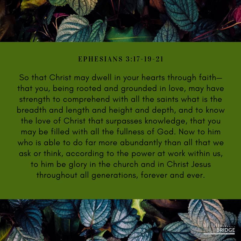Ephesians 3:17-19-21