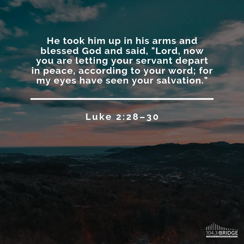Luke 2:28-30